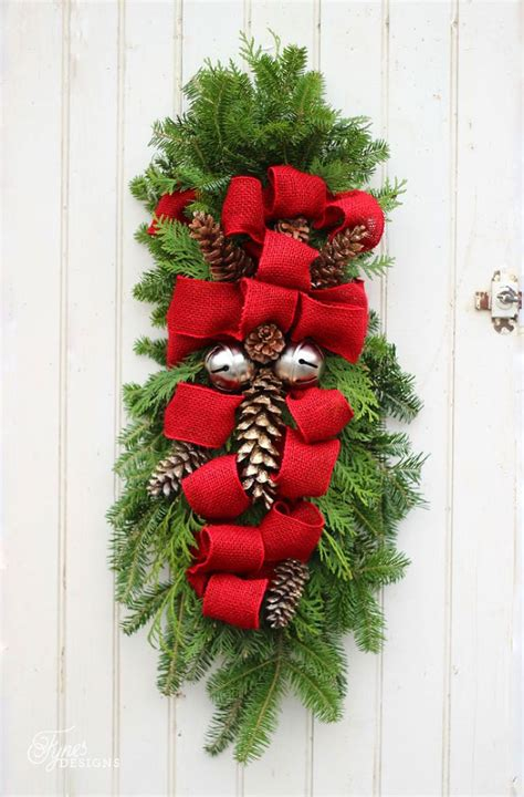 how to make a christmas swag fiery red pine and xmas