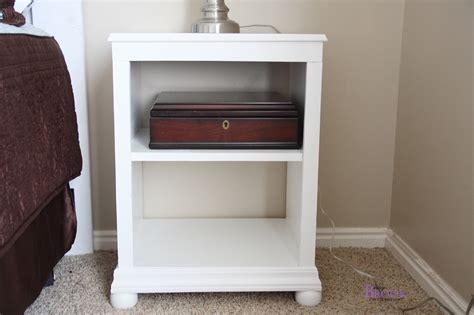 Nightstand Plans Free by Nightstand Open Shelf White