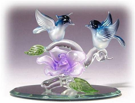 Glass Love & Mom Figurines .95 L Spun Glass Heart