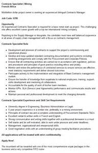 Contract Specialist Resume by Object Moved