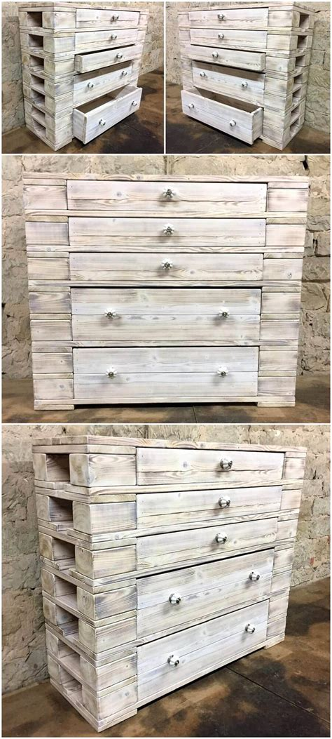 pallet wood furniture recycled wood pallets dresser table plan wood pallet Reclaimed