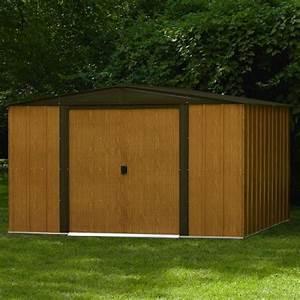 avis abri de jardin metal imitation bois 93 m2 achat With abri de jardin metal imitation bois