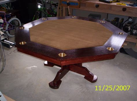 octagon game table plans handmade octogon poker table by harman wood design