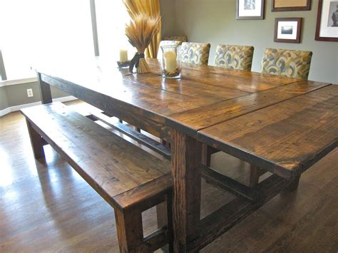 Brown Reclaimed Wood Farmhouse Dining Room Table With