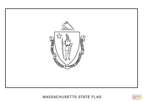 Flag Of Massachusetts Coloring Page Free Printable