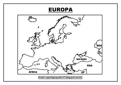 Suporte Geográfico: EUROPA MAPAS PARA COLORIR