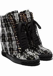 Nicholas Kirkwood Size Chart Casadei Wedges Ankle Boots In Black White Fabric Italian