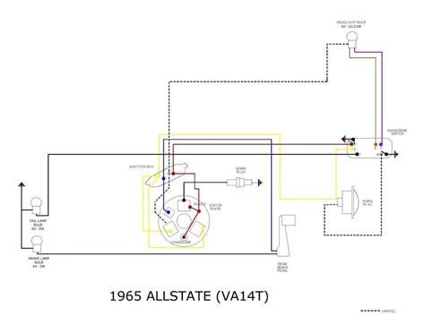 modern vespa 1964 vnb wiring question