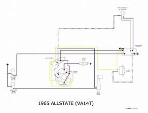Modern Vespa   Allstate 6 Volts Stop Light