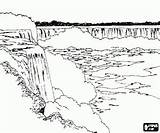 Cataratas Catarata Cachoeira Paisagem Paisagens Kolorowanka sketch template