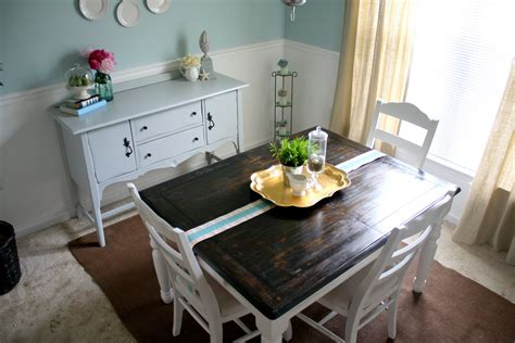 refinishing  dining room table shannon claire
