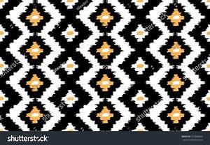 Ikat Seamless Vector Pattern Stock Vector 273868064