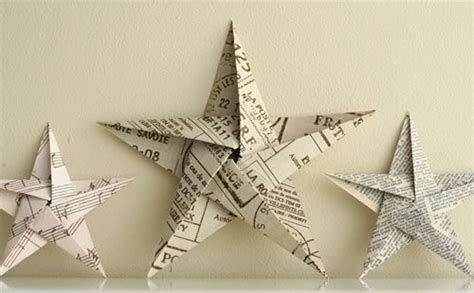 5 pointed origami star christmas ornaments step by step