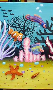 Coral Reef 24X48 3D Painting 2 by WhimsicalcreationsLB on ...