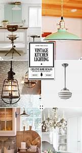 Vintage kitchen lighting ideas from school house lights