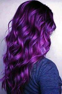 Rock Your Hair With Deep Purple Color Hair Pinterest