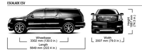 cadillac escalade esv suv blueprints  outlines