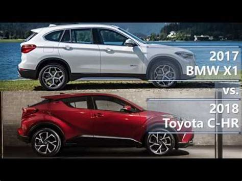bmw x1 zubehör 2017 bmw x1 vs 2018 toyota c hr technical comparison
