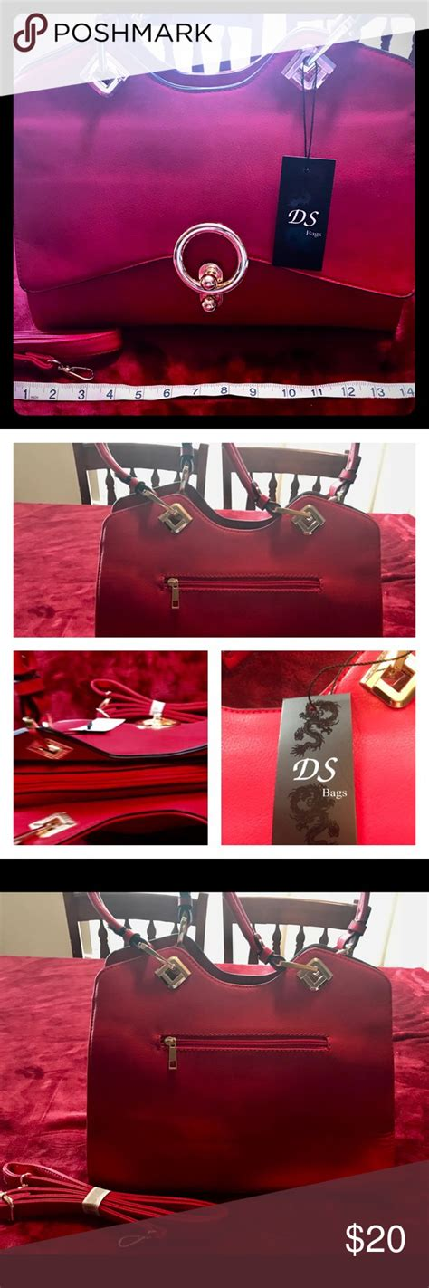 ds red purse red purses purses bag straps