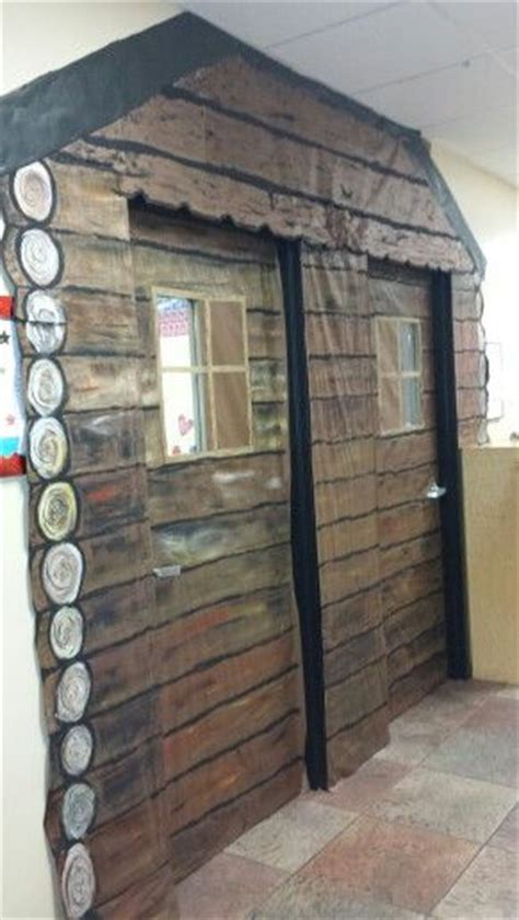 house   big woods log cabin classroom doors