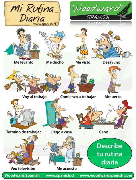 las rutinas en espa 241 ol daily routines in vocabulary