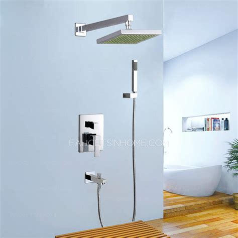 wall mount soap modern water concealed wall mount shower faucet system