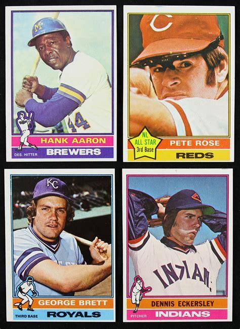 Baseball Trading Card Lot Detail 1976 Topps Baseball Trading Cards Complete