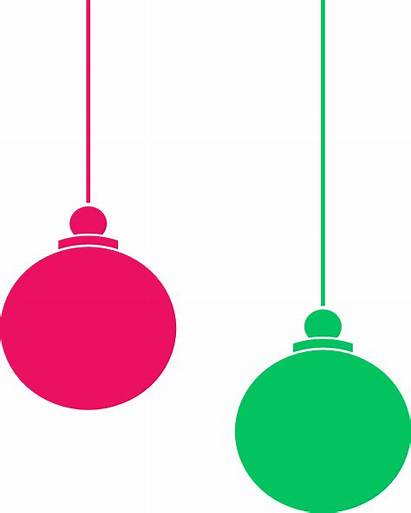 Ornament Clipart Hanging Clip Christmas Outline Ornaments