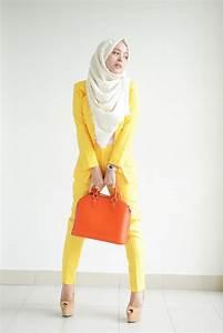 Yellow. #hijab   Fashion with modesty   Pinterest   Hijabs Hijab Fashion and Giyim