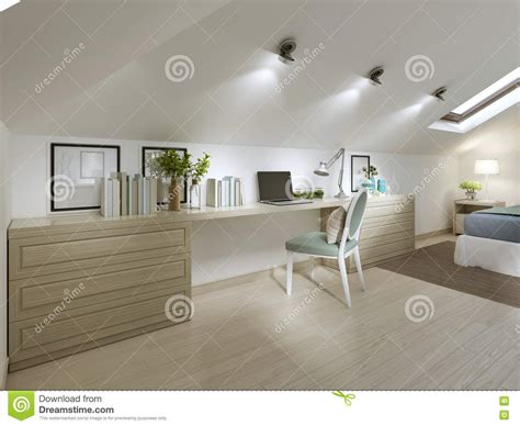 grand bureau de travail avec la chaise dans la chambre 224