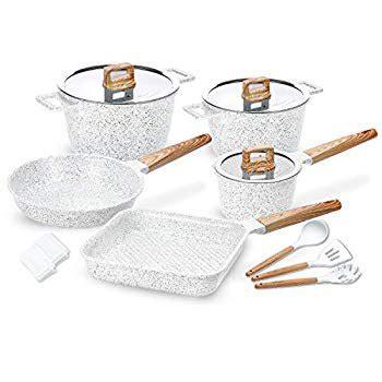 ceramic cookware set  stick dishwasher safe scratch resistant  pfoa  induction