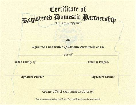 oregon state domestic partnership multnomah county