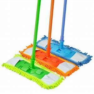 Extendable microfibre floor mop cleaner sweeper wooden for Best wet mop for tile floors