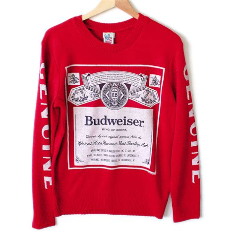 budweiser sweater outfitters budweiser tacky sweater the