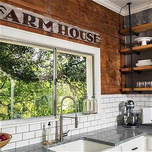 rustic freestanding kitchen island country kitchen hgtv With kitchen colors with white cabinets with barn board wall art