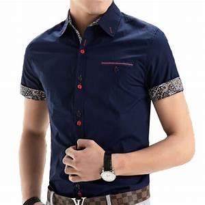 2015 New Brand Mens Dress Shirts Short Sleeve Casual Shirt ...
