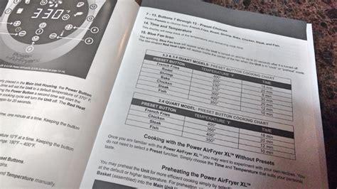 fryer air power xl pork chart chops inspiringmomma perfect recipes quart need foods frying