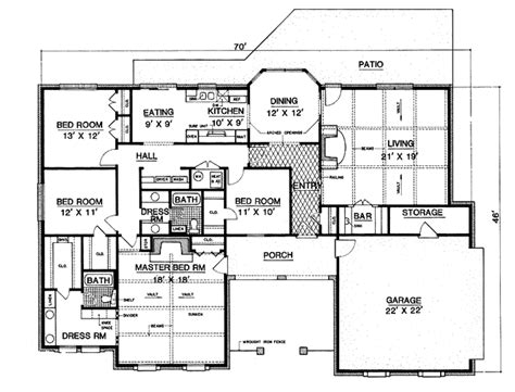 4 Beds 2 Baths 2170 Sq/ft Plan #45-471