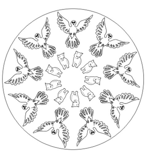tier mandala mandala ausdrucken