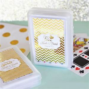 personalized metallic foil playing cards wedding favors With personalized playing cards wedding favors