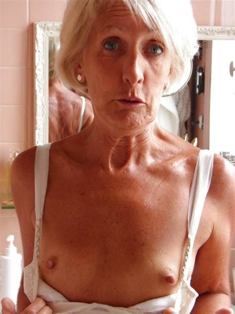 Gramma Granny Mature Itty Bitty Titties Gray