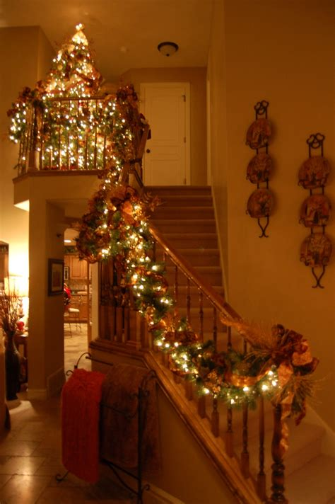 christmas staircase staircase decor getting ready for christmas pinterest