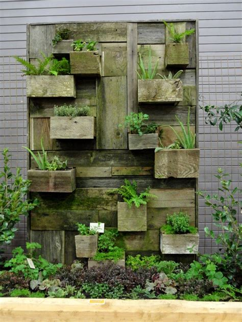 reclaimed barn door vertical wall planter reclaimed wood planter would be lovely inside or out with wood or other planks trays etc