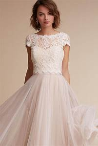 blush wedding dress styles we love southern living With dress tops for wedding