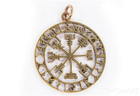 wikinger kompass runen kompass vegvisir wikinger kompass asatru