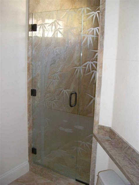 frosted glass shower doors for tubs bmbo frmls glass shower doors etched glass decor