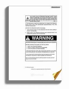 Case W14  Prior To 9119395  Operators Manual