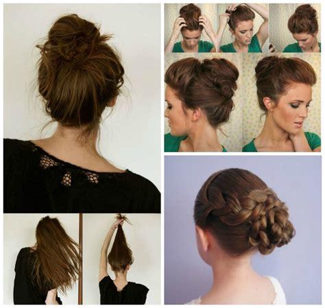 wonderful  simple bun hairstyles