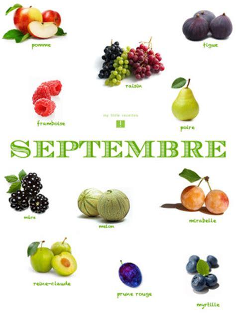 septembre produits frais et de saison my recettes