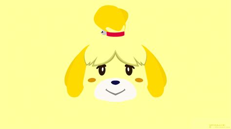 Isabelle Animal Crossing Wallpaper - minimal crossing isabelle by jotaauvei on deviantart